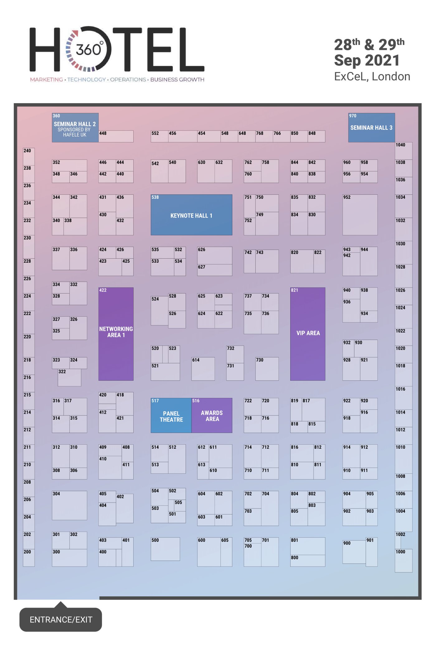 Hotel Facilities Management Expo floorplan